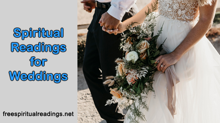 Spiritual Readings For Weddings